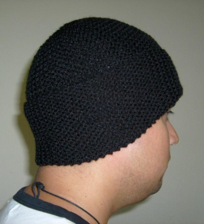 Gorro de lana tejido a palillo para hombre