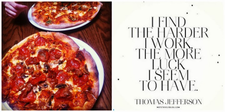 Terra Cotta pizza, Windsor Ontario pizza, Thomas Jefferson quote, Instagram collage, A Coin For the Well