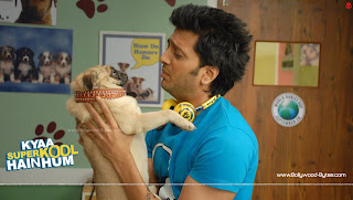 Riteish Deshmukh with his doggy Kyaa Super Kool Hain Hum HD Wallpaper