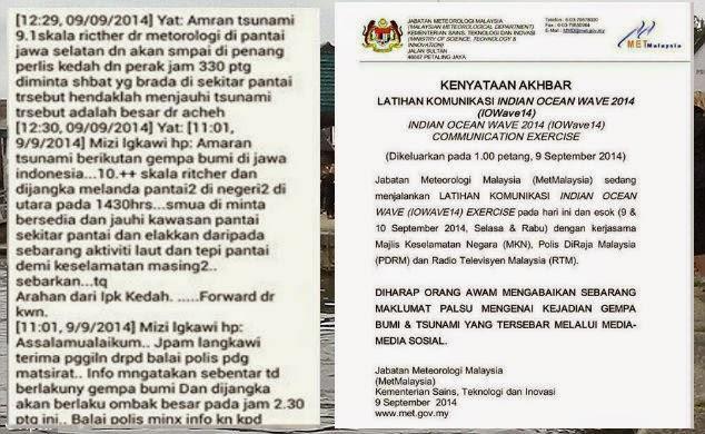 Malaysia Di Landa Gempa Bumi Tsunami