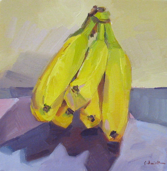 Oil Painting Still Life with Bananas