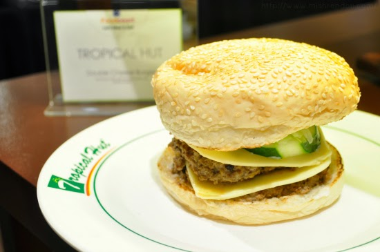 Double Cheese Burger from Tropical Hut SM Fairview Foodcourt