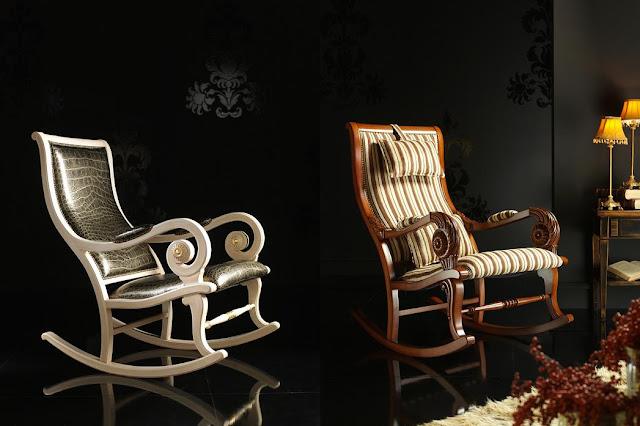 испански мебели, люлеещи столове, люлеещи кресла, луксозни мебели, интериорен дизайн, обзавеждане, мебели, хол, къща, Испания