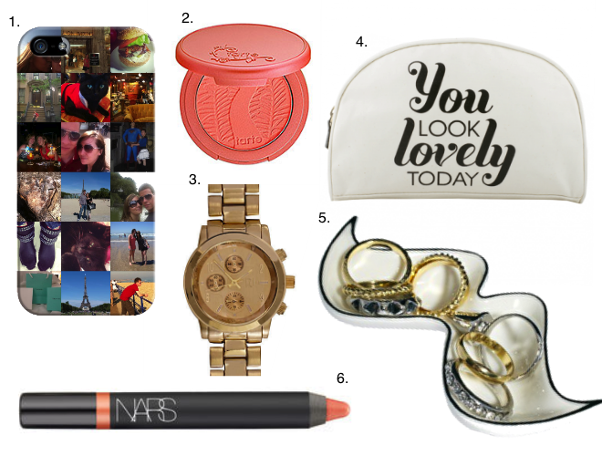 Wish List Featuring Castetagram, Tarte Amazonian Clay Blush, Alphabet Bags, River Island Watch, Moustach Ring Holder, Nars Lip Pencil