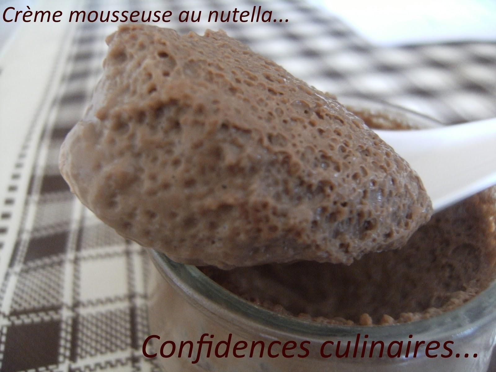 confidences culinaires cr me mousseuse au nutella ronde interblog 26. Black Bedroom Furniture Sets. Home Design Ideas