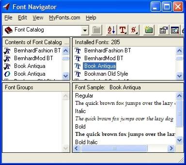 Bitstream Font Navigator
