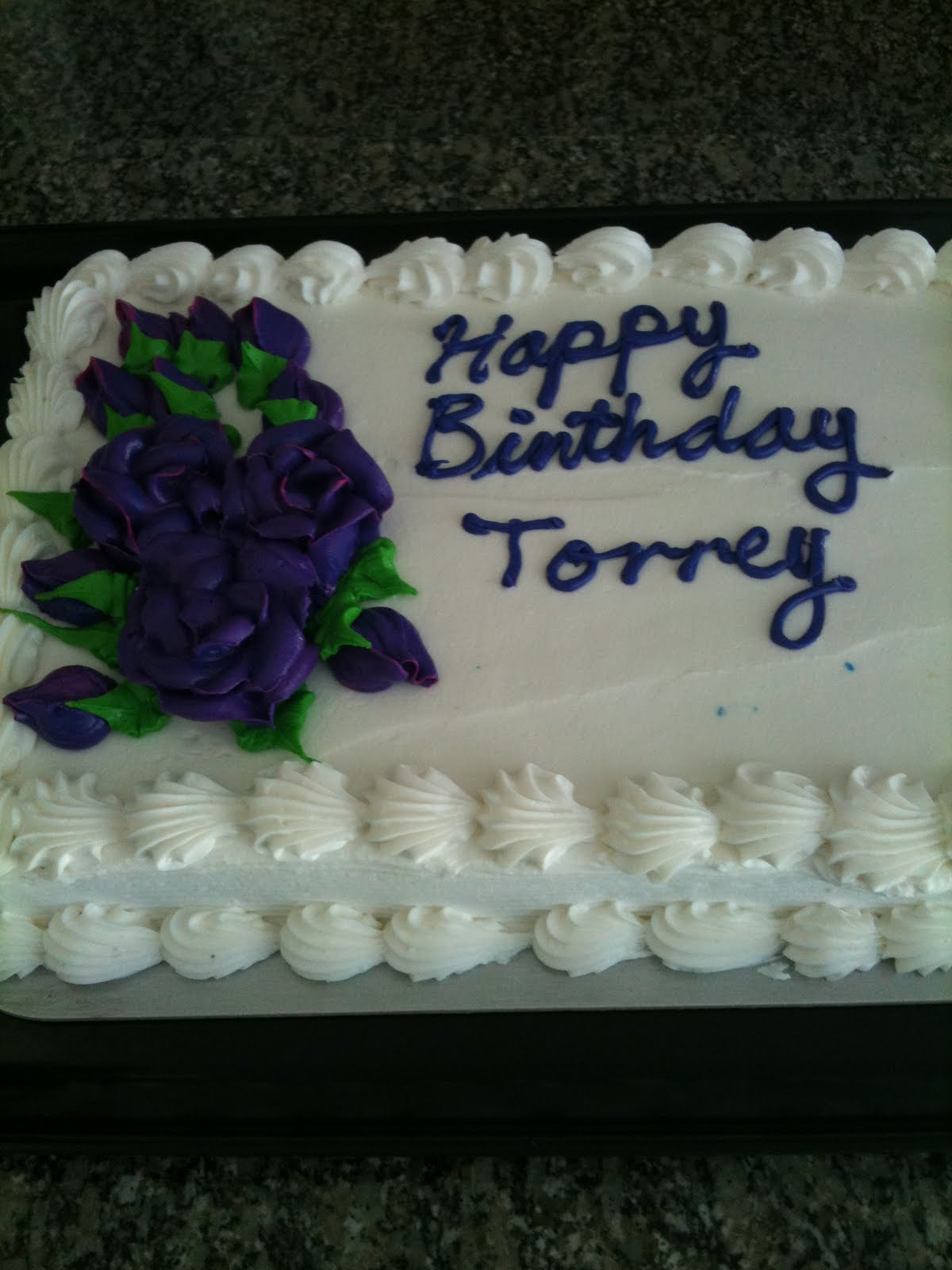 Torreys Blog Today I Got An Awesome Birthday Cake With Purple Flowers