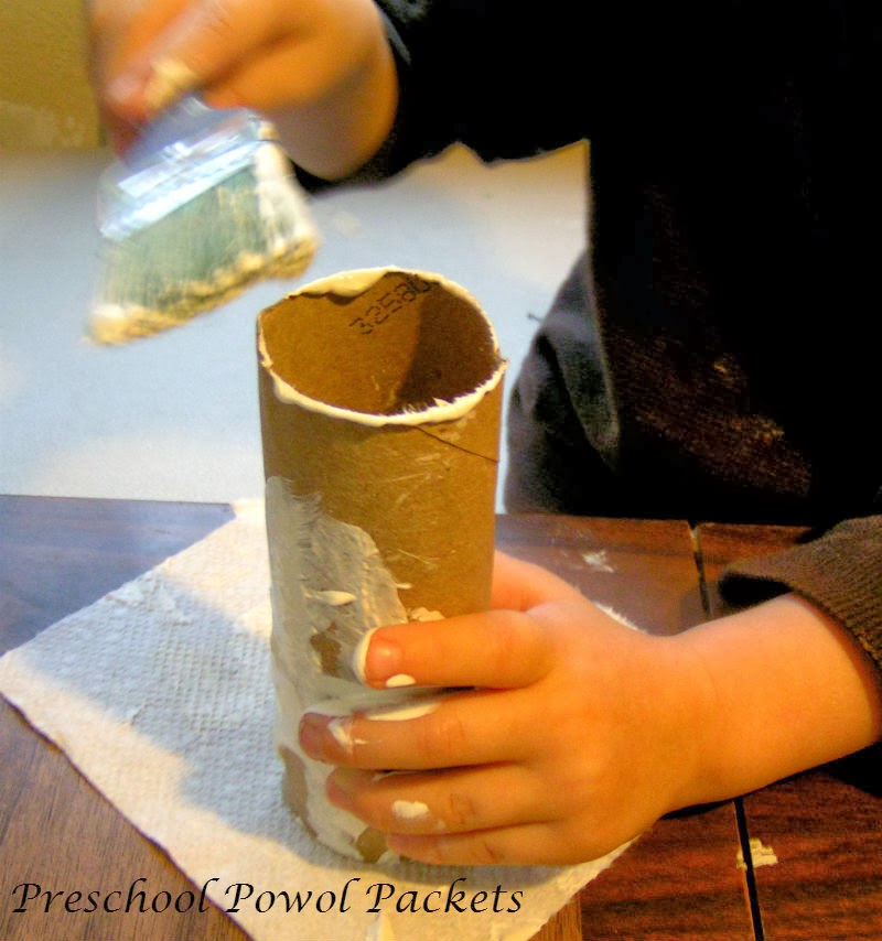 Snowman Paper Towel Roll Craft