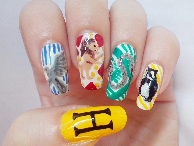 31DC2014 Day 23: Inspired By A MOVIE - Harry Potter Houses Nails