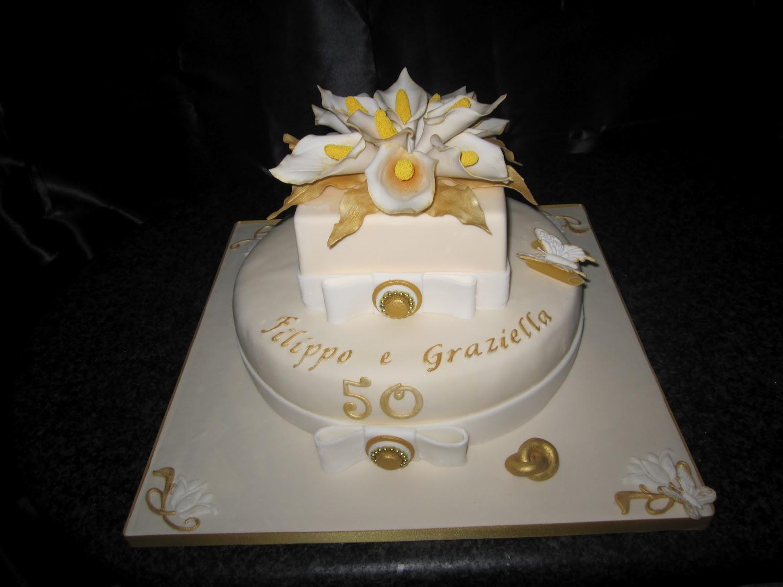 Dolce candy 50 anni di matrimonio nozze d 39 oro for Decorazioni 50 anni di matrimonio