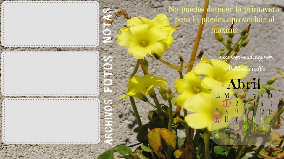 calendario Abril doce