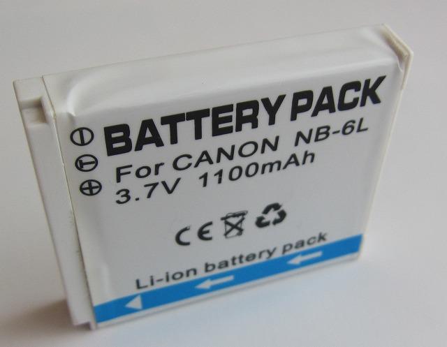 膨張する粗悪品バッテリーに注意(キャノン NB-6L)
