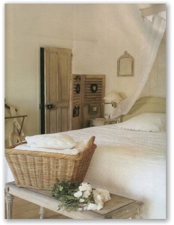 Roses and rust a basket case for French country bedroom ideas