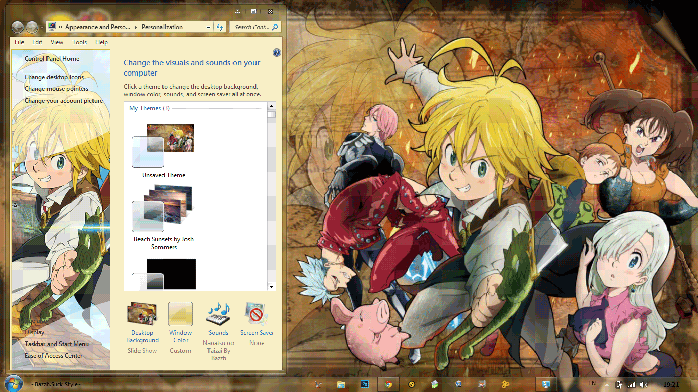 [Theme Win 7] Nanatsu no Taizai By Bashkara