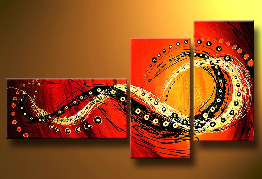 Manualidades paso a paso ideas abstractas for Cuadro en lienzo modernos