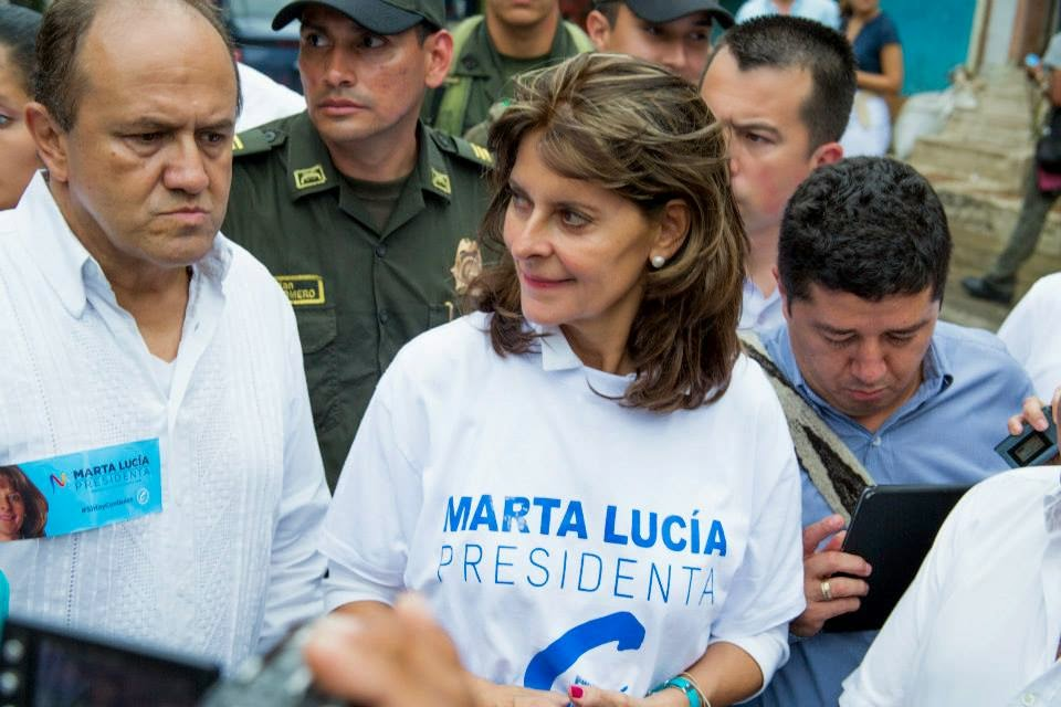 Marta Lucía on the campaign trail for the 2014 Colombian presidential elections.