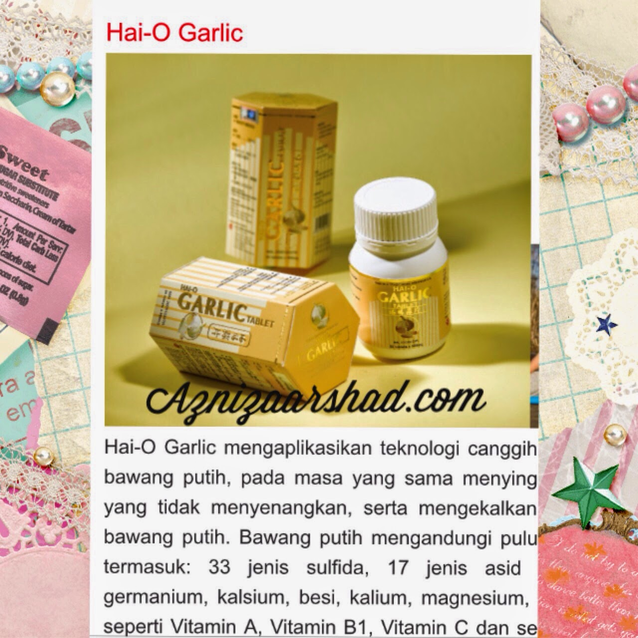 Hai-O garlic, garlic, awet muda, kurus, kurus semulajadi, aznizaarshad, hai-o