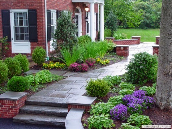 Front walkway backyard ideas for Garden design jobs ireland