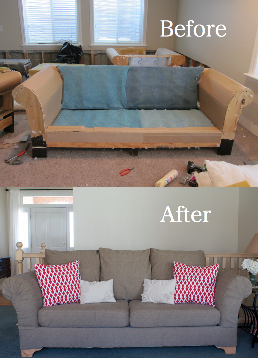 Do it yourself divas diy strip fabric from a couch and reupholster it Reupholster loveseat