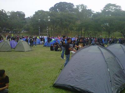 himpunan Blackout 505 kira-kira 40 khemah Padang Merbok