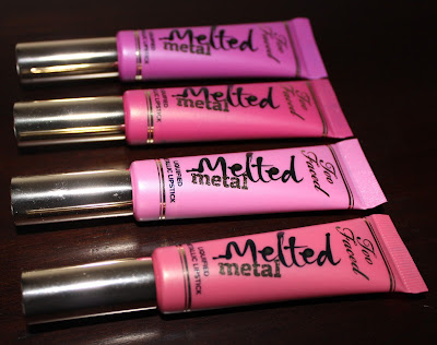 Too Faced Melted Metal Liquified Metallic Lipsticks