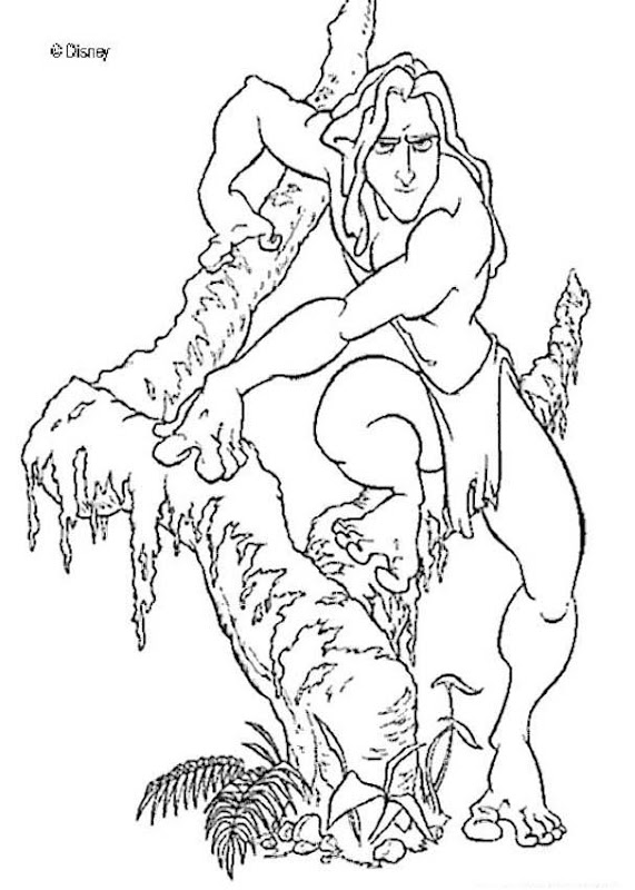 Tarzan Disney Coloring Pages For Boys title=