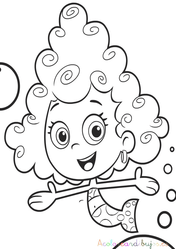 Demma para colorear de bubble guppies