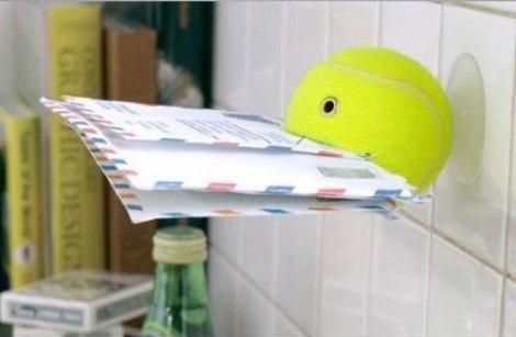 Portalettere da muro - progetto di riciclo creativo palline da tennis