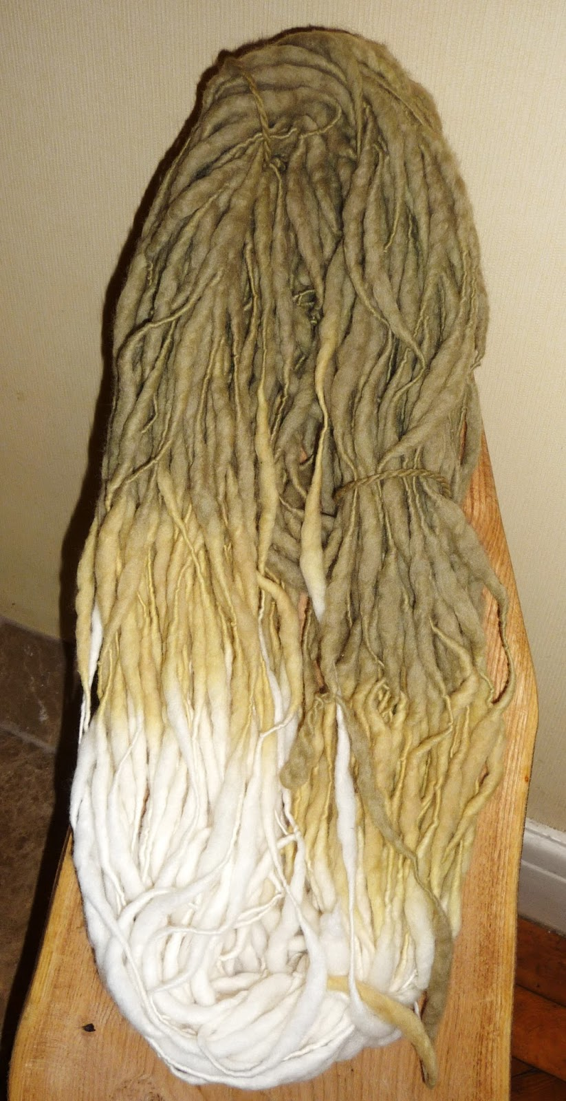 Wool - Tribulations of Hand Spinning and Herbal Dyeing: Early Worm Cowl Knitt...