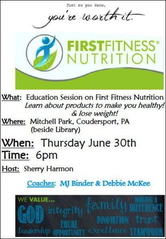 6-30 First Fitness Nutrition