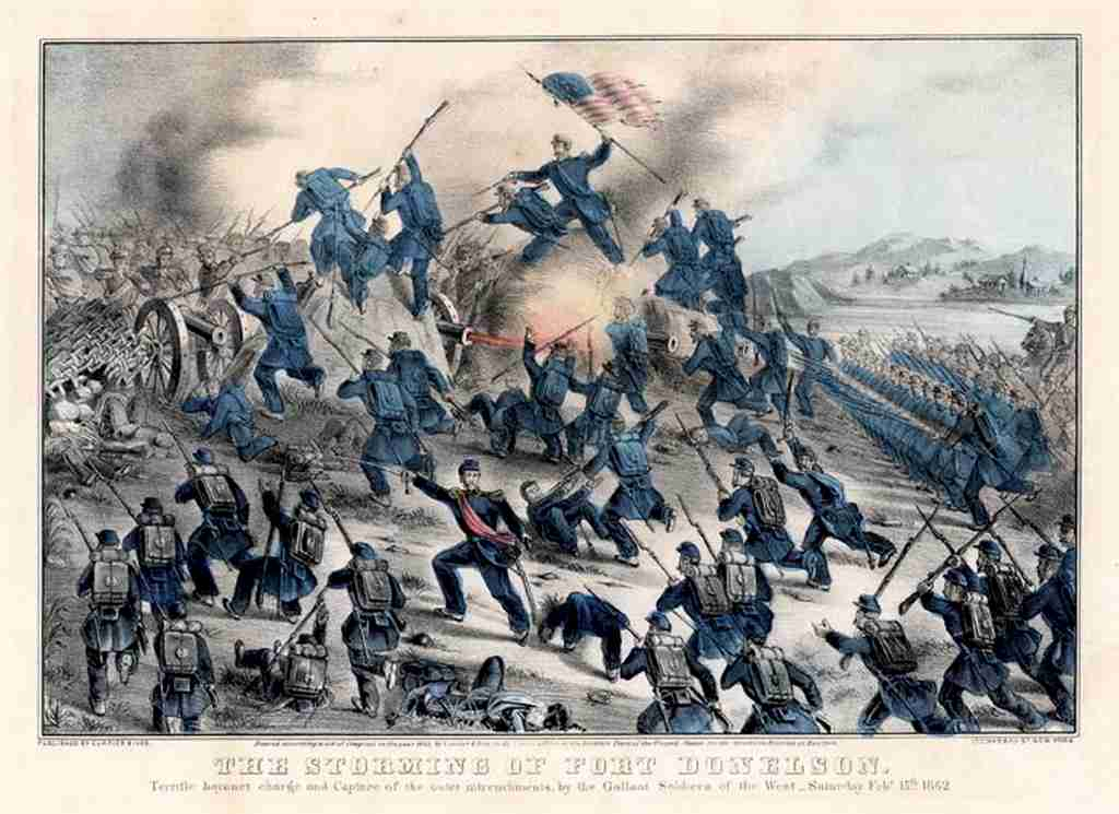 The Civil War 150th Blog  Battle of Fort Donelson     Breakout