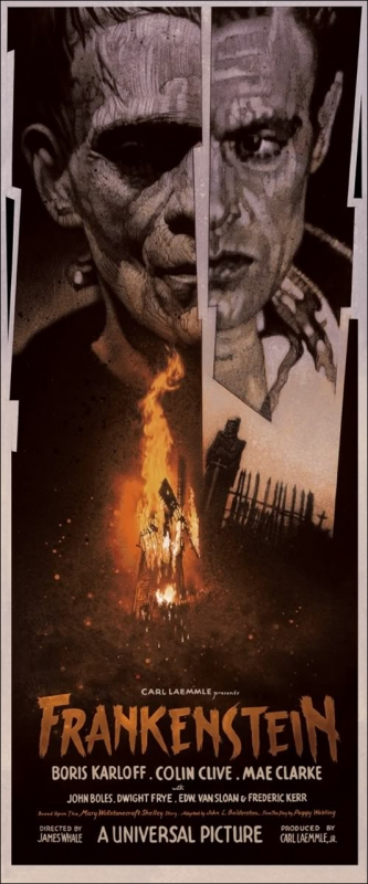 Mondo - Frankenstein Screen Print by Drew Struzan