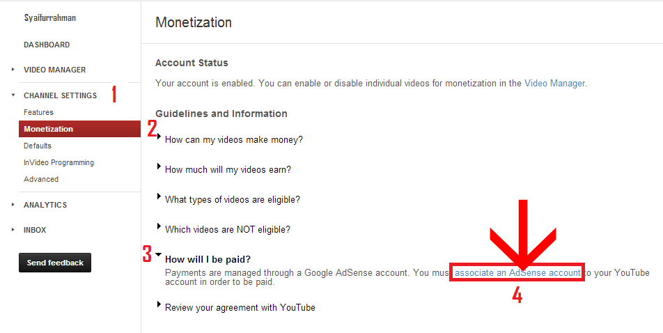 apply google adsense youtube 2