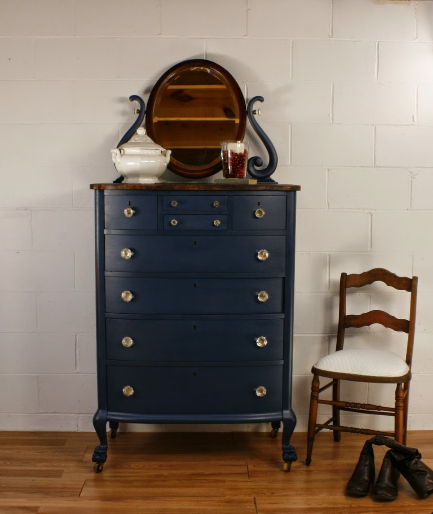 Roots and Wings Furniture Blog  No  105 Antique Navy Blue Chest of Drawers. Roots and Wings Furniture Blog  No  105 Antique Navy Blue Chest of