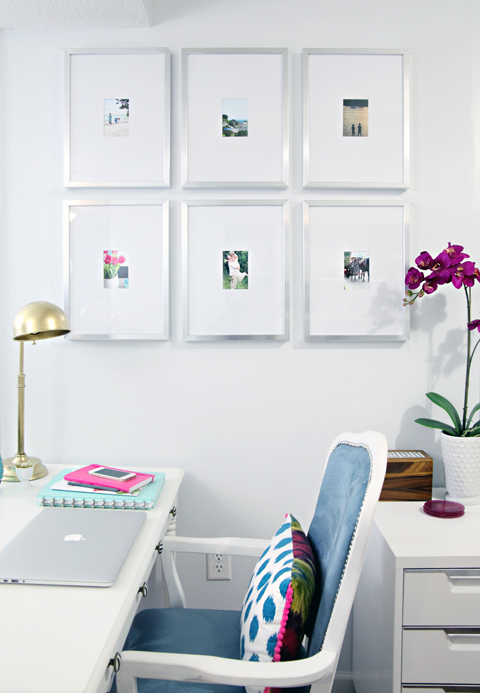 Iheart organizing studio update a frame worthy update for Picture frames organized on walls