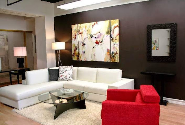 Paint color ideas for living room accent wall for Colour designs for living room