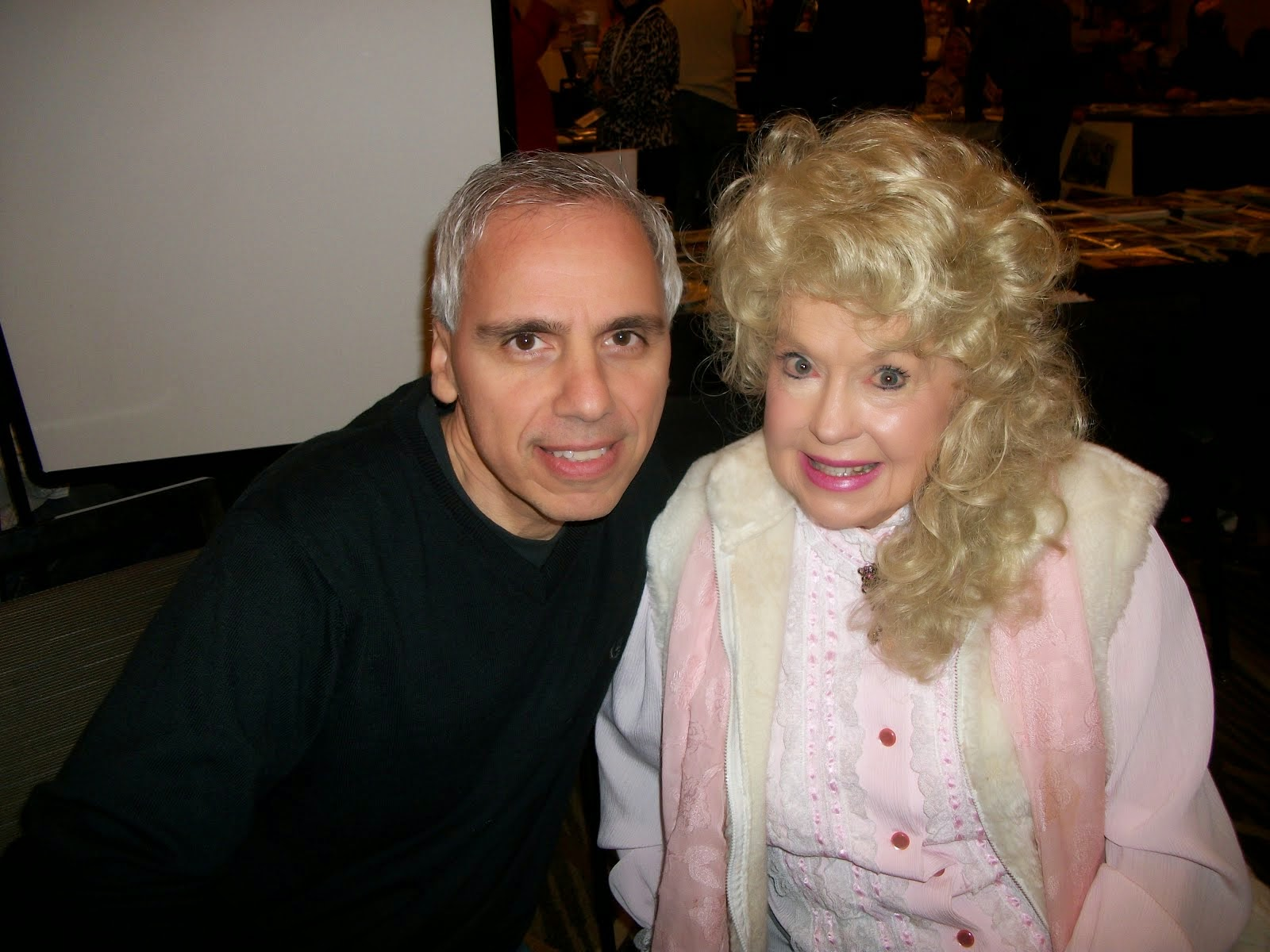 With Donna Douglas