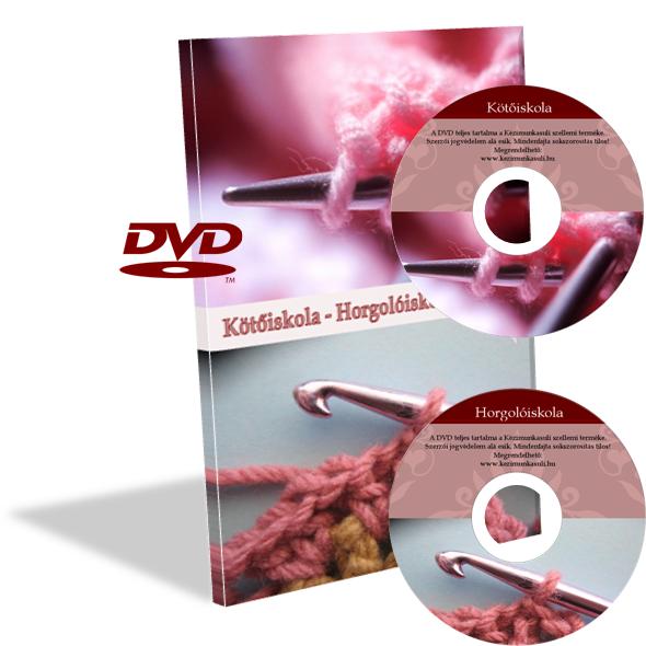 Kötőiskola-Horgolóiskola dupla DVD