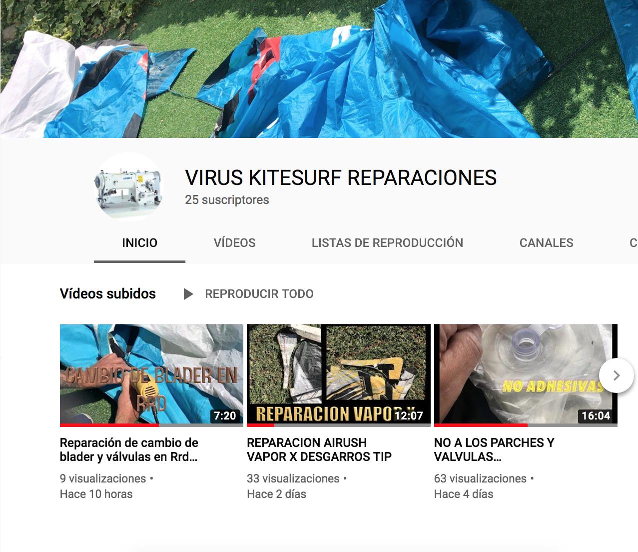 VIRUS KITESURF REPARACIONES