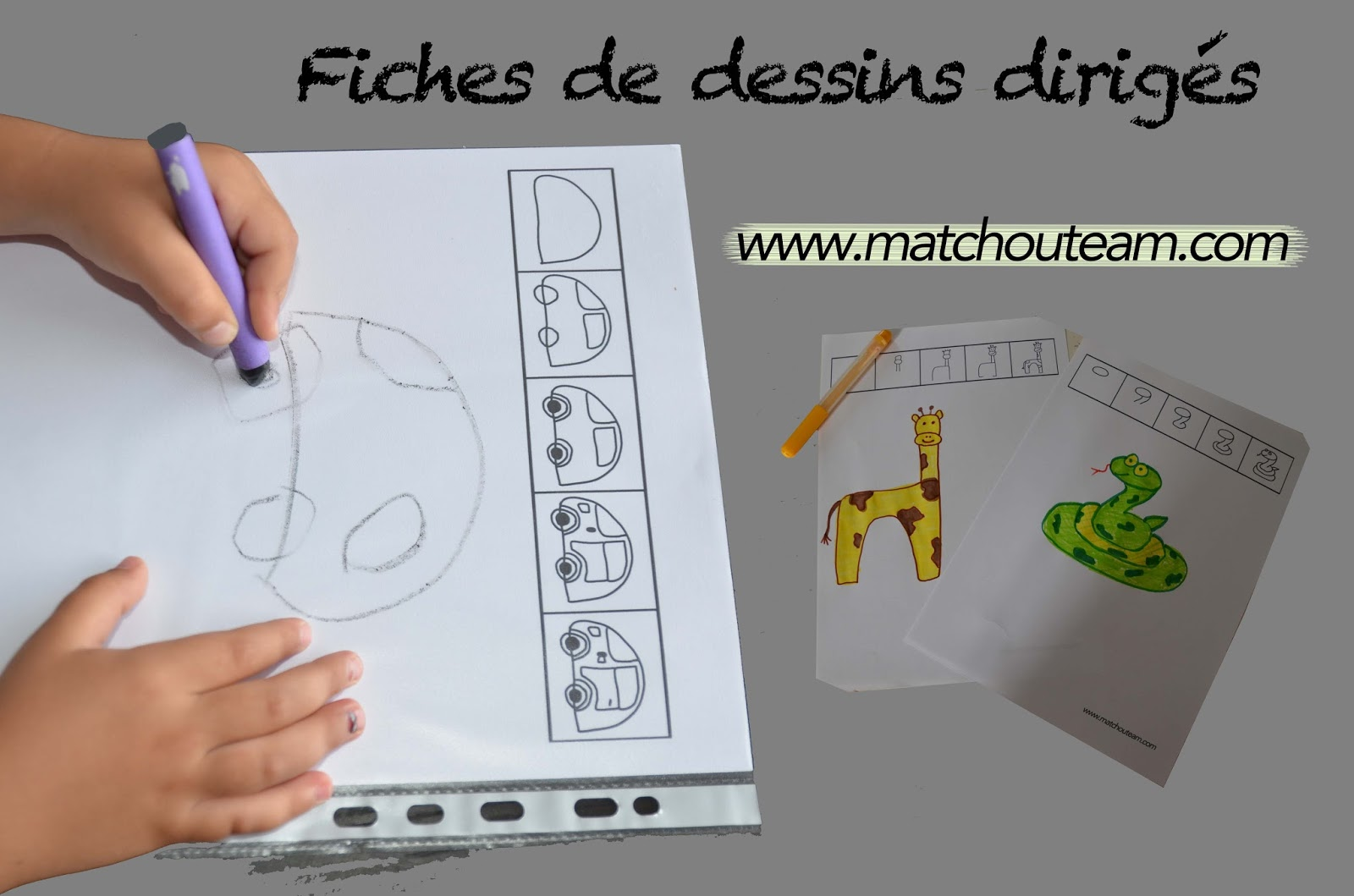 Ma Tchou Team Fiches De Dessins Dirig 233 S