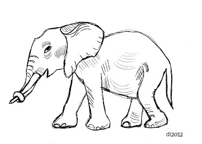 Cute Elephant Sketches