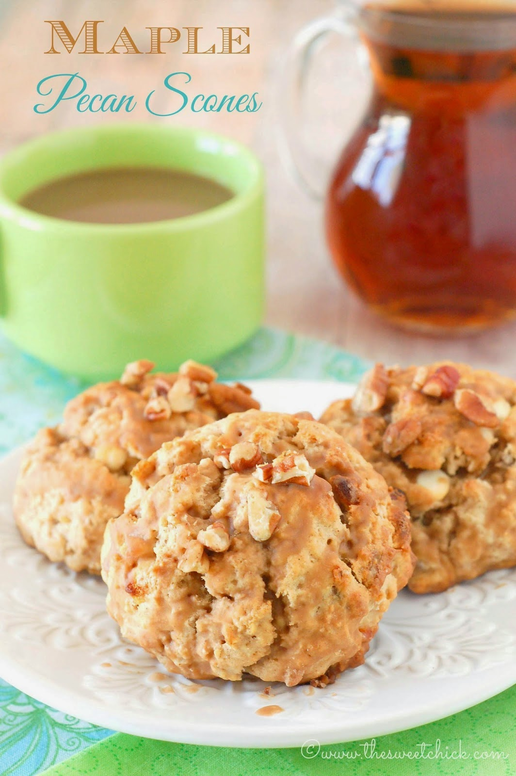 Maple Pecan Scones by The Sweet Chick