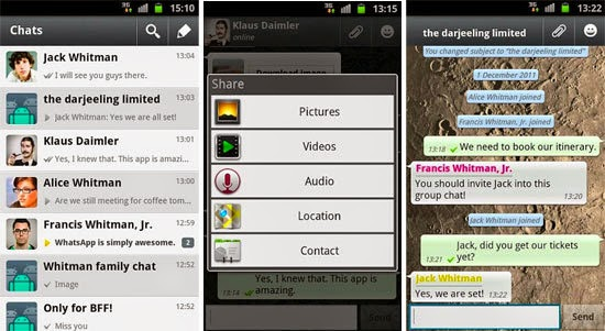 WhatsApp Messenger 2.12.5 APK screenshot