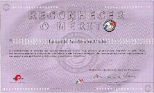 Prémio - Reconhecer o Mérito 2000