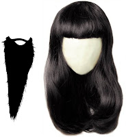 wigs for men beard women hairs  like natural black color