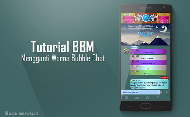 Mengganti Bubble Chat BBM