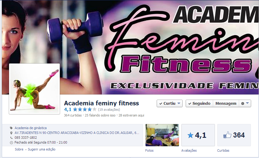 Academia feminy fitness - ARACOIABA-CE
