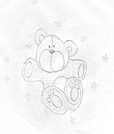 pintura em tecido infantil fralda risco ursinho