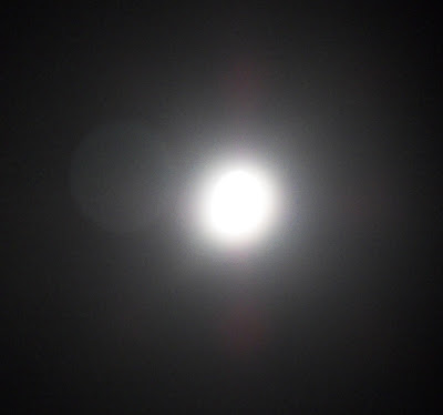 Moon with orb