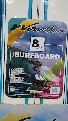 Enjoy the surf with the  Wavestorm 8-Foot Soft Top Surfboard